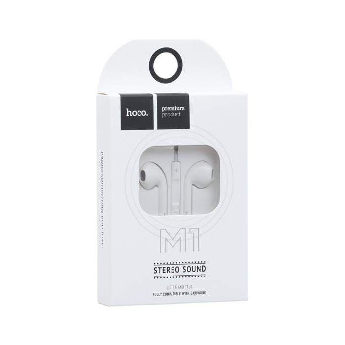 Наушники Hoco M1 original series Earphone Apple - Белый
